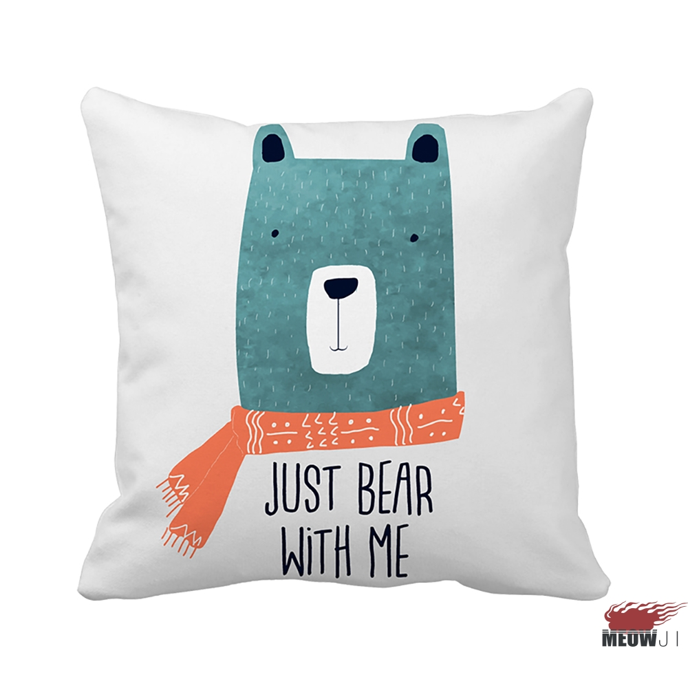 online get cheap cool throw pillows aliexpresscom  alibaba group - miaoji watercolor animals bear cool boy multi size throw pillow casefree