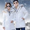 Men Women Lovers Clothes Coats Parkas New Winter Cashmere Wool Hooded Jacket Thickened Warm Fur Collar Men's Down Jacket MT17003
