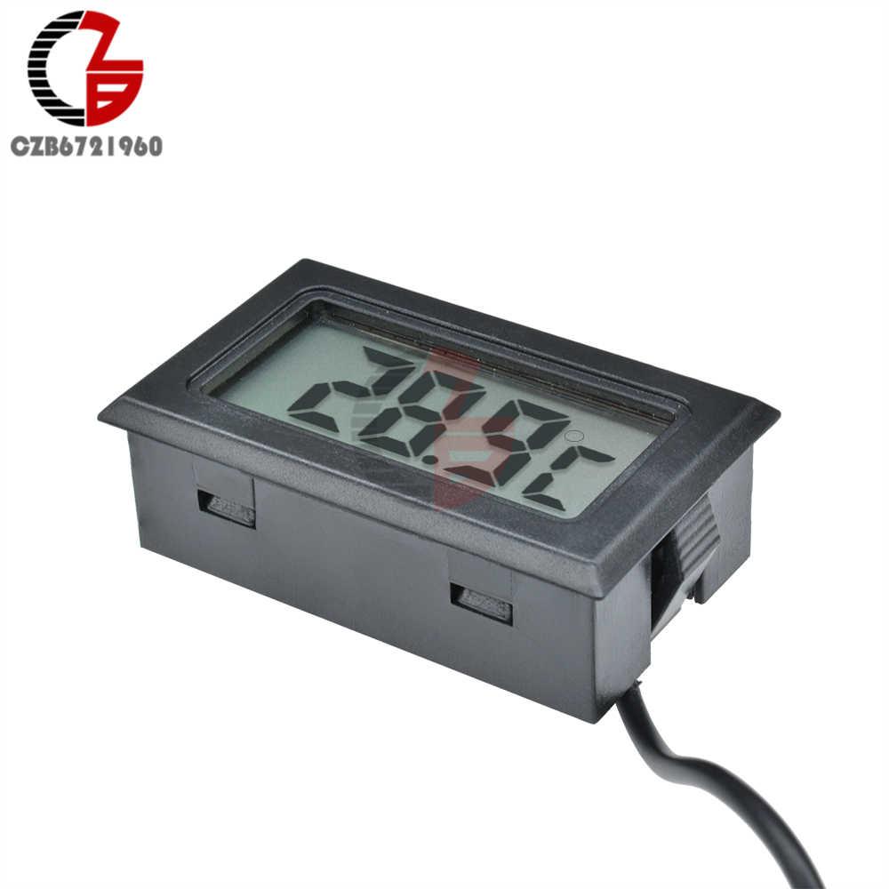 1 3 5 Meter Sensor Sonde LCD Digital Thermometer Auto Kühlschrank Kühlschrank Mit Gefrierfach Aquarium Temperatur Detektor Monitor Tester