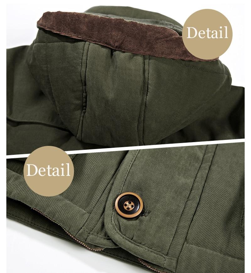 High Quality Men's Windbreaker Fleece Cotton Winter Jacket 8