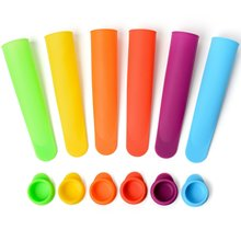 1pc New Elliptical Cover Silicone Popsicle Mold Ice Cream Mould Lollipop Compartment