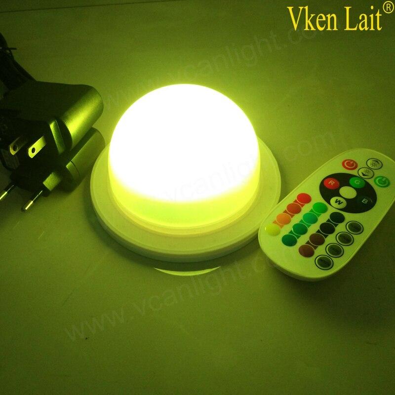 DHL 48 LED S livraison gratuite 120mm LED RGB batterie Rechargeable lumière