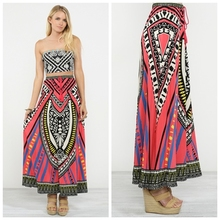 Pink Ice Women's Juniors Boho Style Long Flowy Maxi Skirt FT048