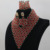 Promoción grande El Último Diseño Nigeriano Boda Perlas Africanas Joyería Conjunto V-cuello de Los Granos Cristalinos Del Traje Africano Envío Libre ALJ739