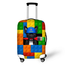 Kleur bouwstenen dierlijke elastische bagage beschermende dekking rits pak voor 18 - 30 inch kofferbak geval reizen koffer covers tassen