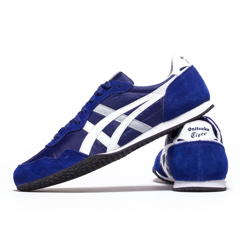 02afb742dde4 Original ONITSUKA TIGER Shoes SERRANO Men s Women Woven and anti fu blue  white Color Unisex low Sneakers Classic Badminton shoes-in Badminton Shoes  from ...