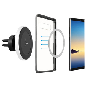Image 5 - Car Mount Qi Wireless Charger For iPhone X XR XS Max 8 Plus Samsung S9 S8 Note Wireless Charging Magnetic Car Phone Holder Stand