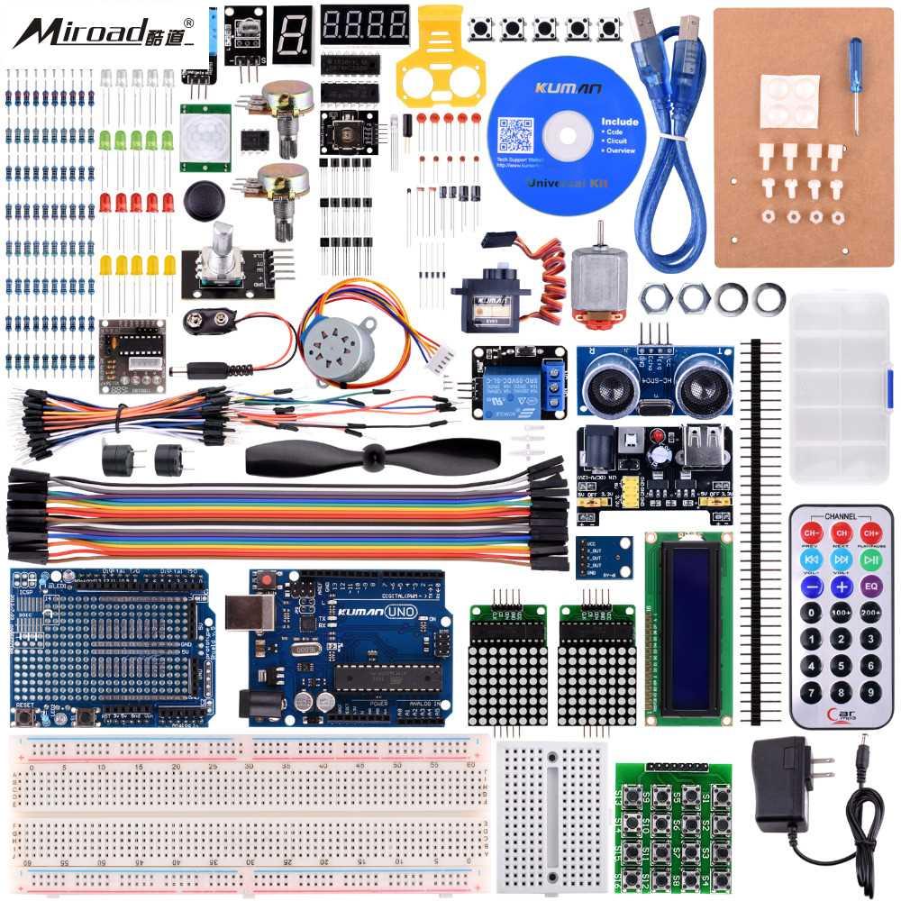 Miroad K27 For Arduino Starter Kit Ultimate Uno R3 Programming Robot Kits Pro Mini atmega due Mega Nano Projects робоконструктор ultimate robot kit makeblock