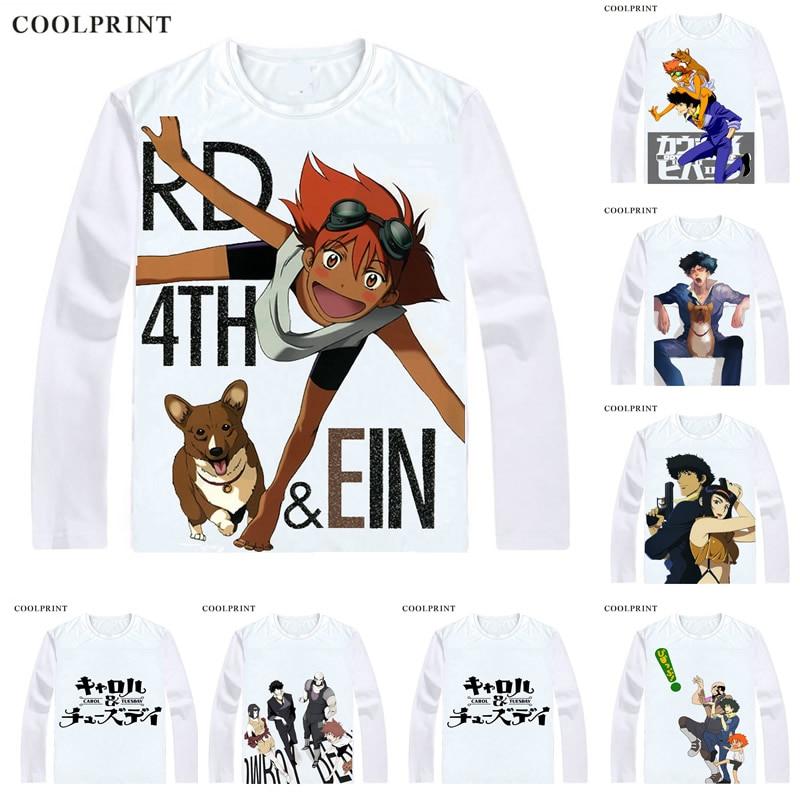 a82862dd9bce COOLPRINT Shinichiro Watanabe CAROL & TUESDAY T-Shirts Long Sleeve Shirts  Anime Manga Cowboy Bebop Spike Spiegel Cosplay T-Shirt