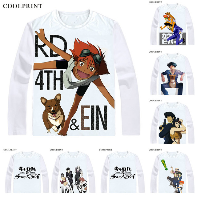 44a7989205d2 COOLPRINT Shinichiro Watanabe CAROL & TUESDAY T-Shirts Long Sleeve Shirts  Anime Manga Cowboy Bebop Spike Spiegel Cosplay T-Shirt