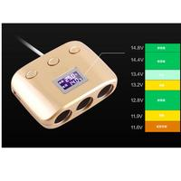Car Cigarette Lighter Charger With LCD Display And 2 USB Ports In Car Wonderful4 14 20