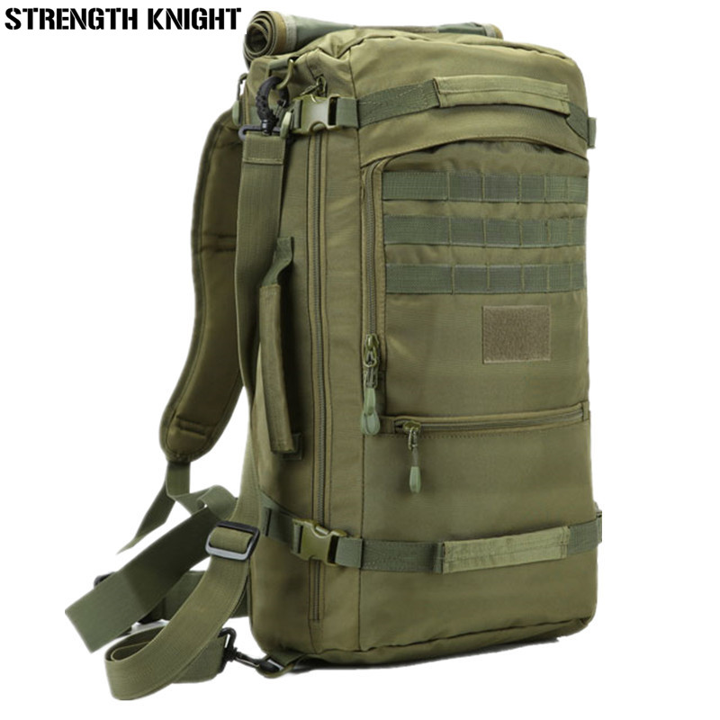 Hot Jual 50L Laptop Backpack High Quality Nylon Bag Backpack Military Traveling Rucksack Bags Free Shipping