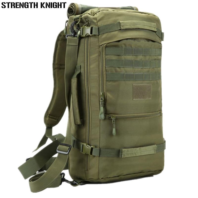 52d1870dc5e06 Męski plecak podróżny 50L plecak na laptopa plecak o dużej pojemności  nastolatek mężczyzna Mochila wodoodporny Nylon wojskowy plecak w Męski plecak  podróżny ...