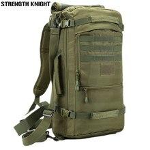 Mochila masculina para laptop 50l, grande capacidade, de viagem, para homens, mochila masculina, impermeável, de nylon, militar