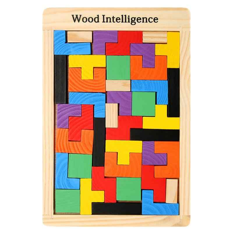 Baby Wooden Puzzles Toys Colorful Jigsaw Board Kids Children Magination Intellectual Educational Toys For Children Gift