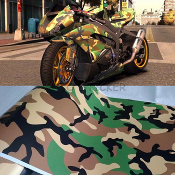 1.52*5/10/15/20/25/30m Army Military Urban Camouflage Film Camo Vinyl Car Wrap Adhesive for Motorcycle Scooter Vehicle DIY Decal
