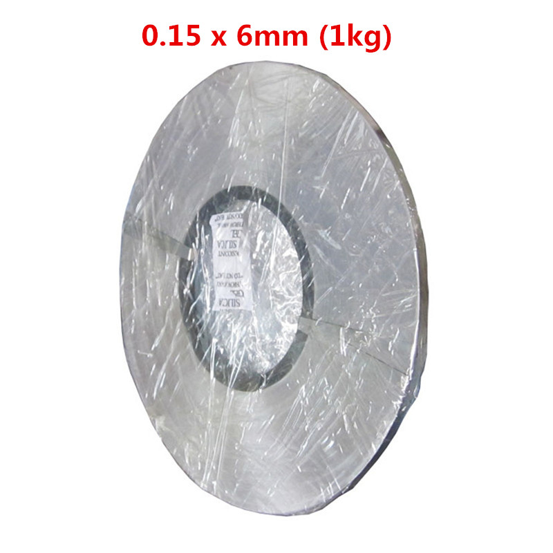 0.15 x 6mm 1kg Nickel Plated Steel Strap Strip Sheets 18650 conductive sheet spot welding electrode