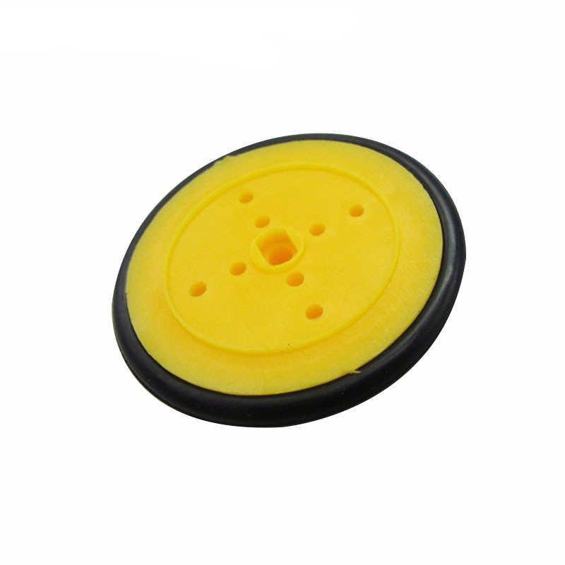 小さなスマート車のタイヤ/タイヤのシャーシプラスチックロボットシャーシホイールゴムdiyのrcおもちゃ電子キットロボットモデルdiy rcおもちゃ指導
