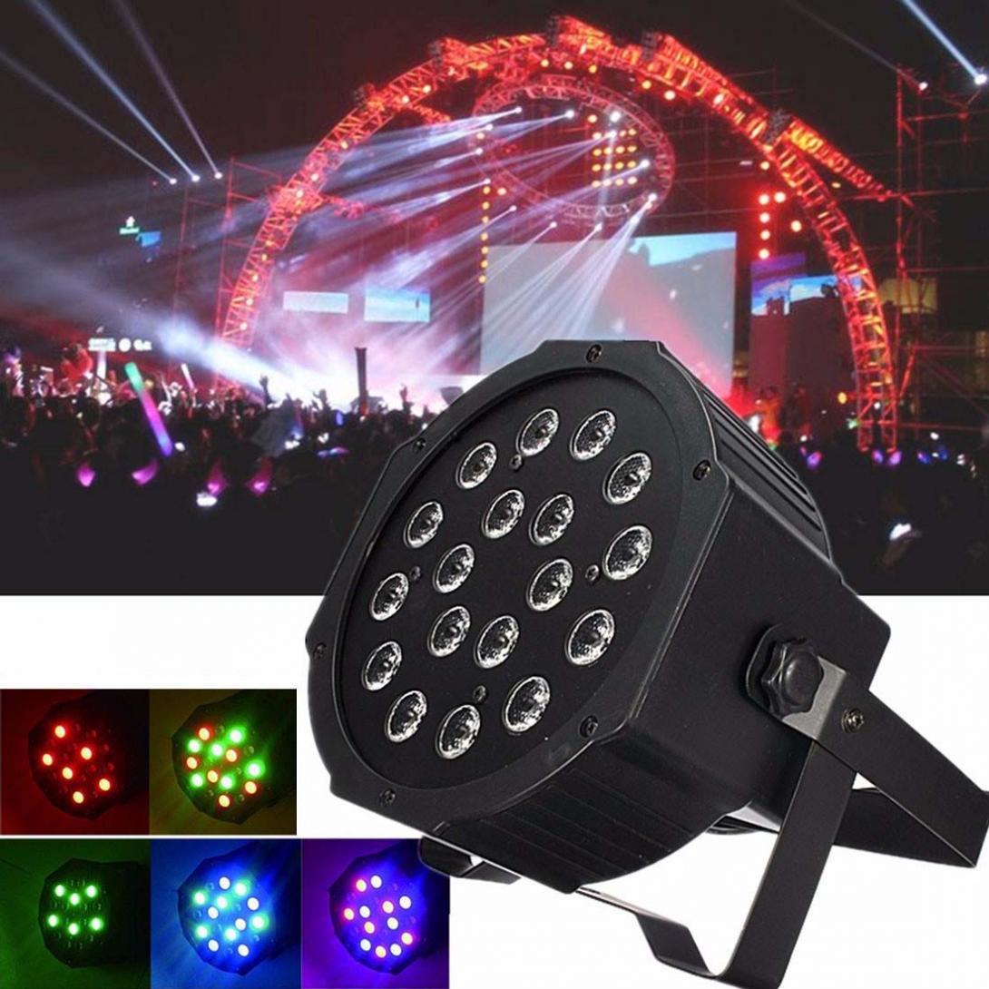18W RGB LED Stage Light Par DMX-512 Lighting Laser Projector Party DJ Light18W RGB LED Stage Light Par DMX-512 Lighting Laser Projector Party DJ Light