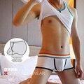 Serie tela de algodón bajo la cintura cómoda anillos body forma la ropa interior de los boxeadores de los hombres multicolor s8010