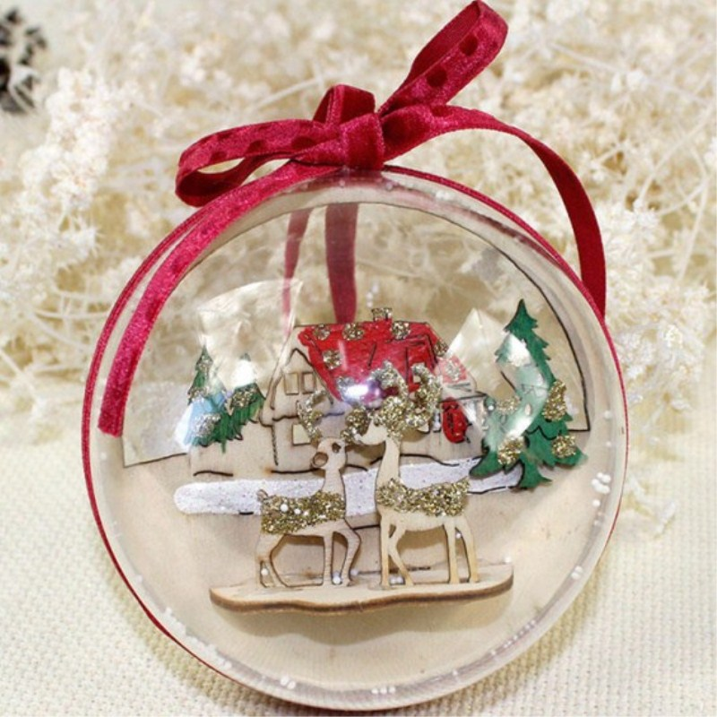 wonderful 6 20cm transparent ball christmas ornament wedding decoration nl79