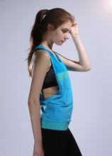 5 kolory kobiety siłownia sport koszulki bez rękawów Femme Tank Tops kamizelka Fitness odzież do biegania luźne szybkie suche Tank Tops podkoszulki tanie tanio Poliester WOMEN summer Wiosna AUTUMN Pasuje prawda na wymiar weź swój normalny rozmiar TFSCLOIN 5 Colors Seamless design! Reduce friction more fitting