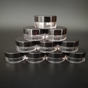 Image 2 - 100 adet 2g 3g 5g Küçük plastik kozmetik krem kavanozu Dudak balsam kabı Tencere Kozmetik ambalajlı kavanoz, plastik Küçük Kavanoz Kozmetik Kutusu