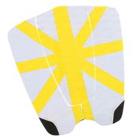 Top Quality 3 Piece Surfboard Traction Tail Pads Surfing Surf Deck Grips White Yellow Water Sports