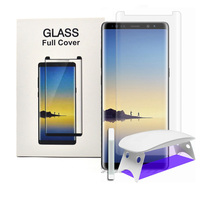Screen Protector For Samsung Galaxy S8 + S9 Plus Note8 3D Curved Tempered Glass Full Coverage Film UV Light Liquid