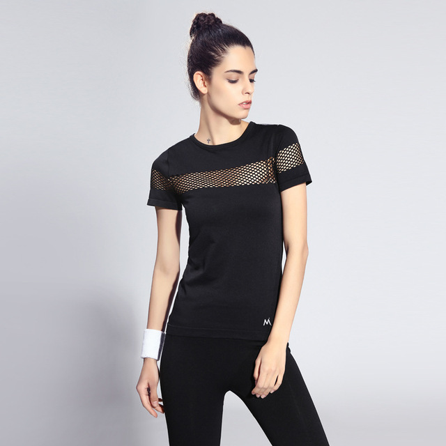 422f0ff3f7fd Rock Session Women's T-Shirt Black Workout Rack T-Shirt Rack-hollow Running  TShirts 7 Colors Anti-wrinkle Fitness Gym Clothes
