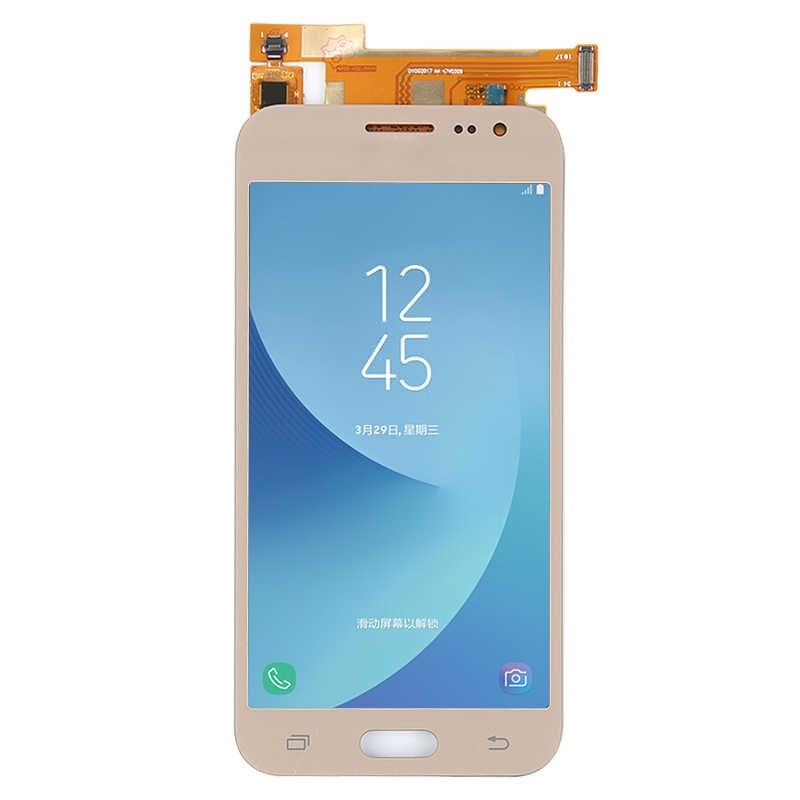 J200 شاشات LCD لسامسونج غالاكسي J2 2015 J200 SM-J200F J200Y J200G شاشة الكريستال السائل مجموعة المحولات الرقمية لشاشة تعمل بلمس AAA ل samsung j2 LCD