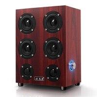 12W Retro Subwoofer Wooden Speaker HIFI class Multimedia Speaker 4 woofer speakers USB audio for Desktop computer smartphone