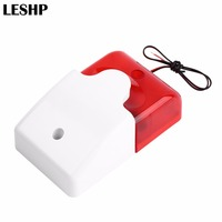 1Sets Mini Wired Strobe Sirene Durable 12V Sound Alarm Strobe Blinkende Rote Licht Sound Sirene Home Security Alarm system 115dB|Alarm-Sirene|   -