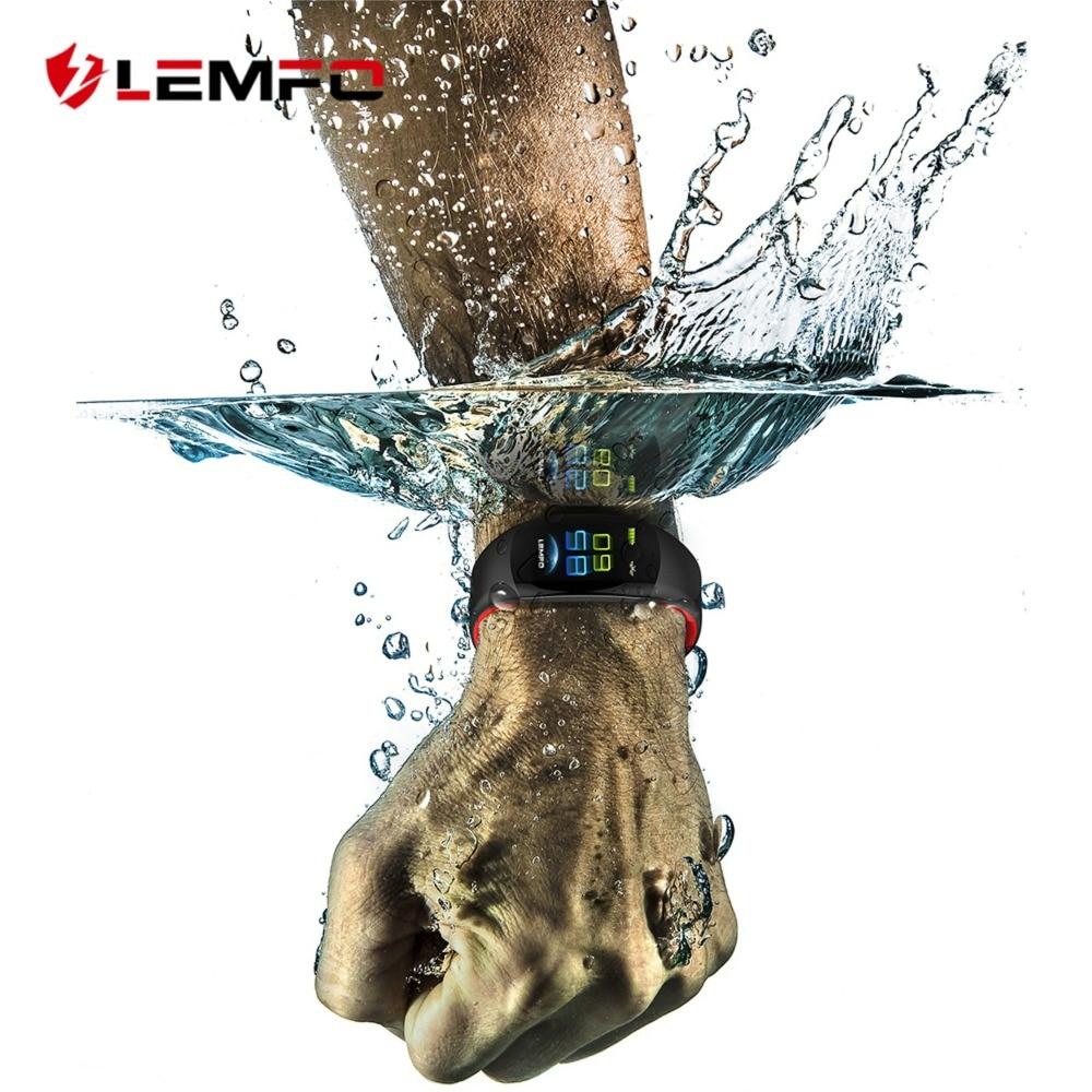 LEMFO LT02 Smart Bluetooth Fitness Bracelet IP68 Waterproof Charm Men Women Watches For Mi Band 3 Color Screen Wristband