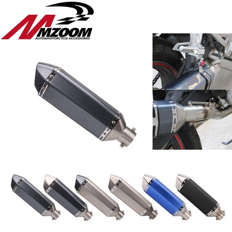 Livraison gratuite 51mm Universal Moto d'échappement Modifié Scooter D'échappement Silencieux GY6 pour HONDA R1 R3 R6 FZ6 Z1000 GSXR600