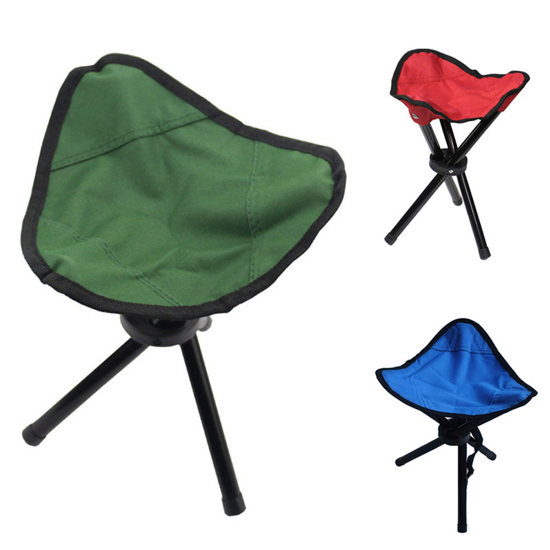 pao de la lona plegable heces de pesca silla tringulo portable acampar al aire libre herramienta