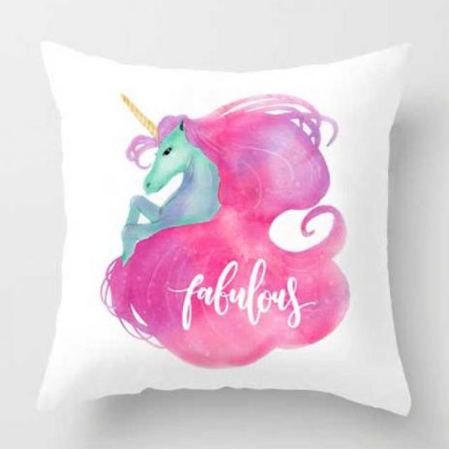 45X45CM UNICORN THEMED PILLOW CASE (14 VARIAN)