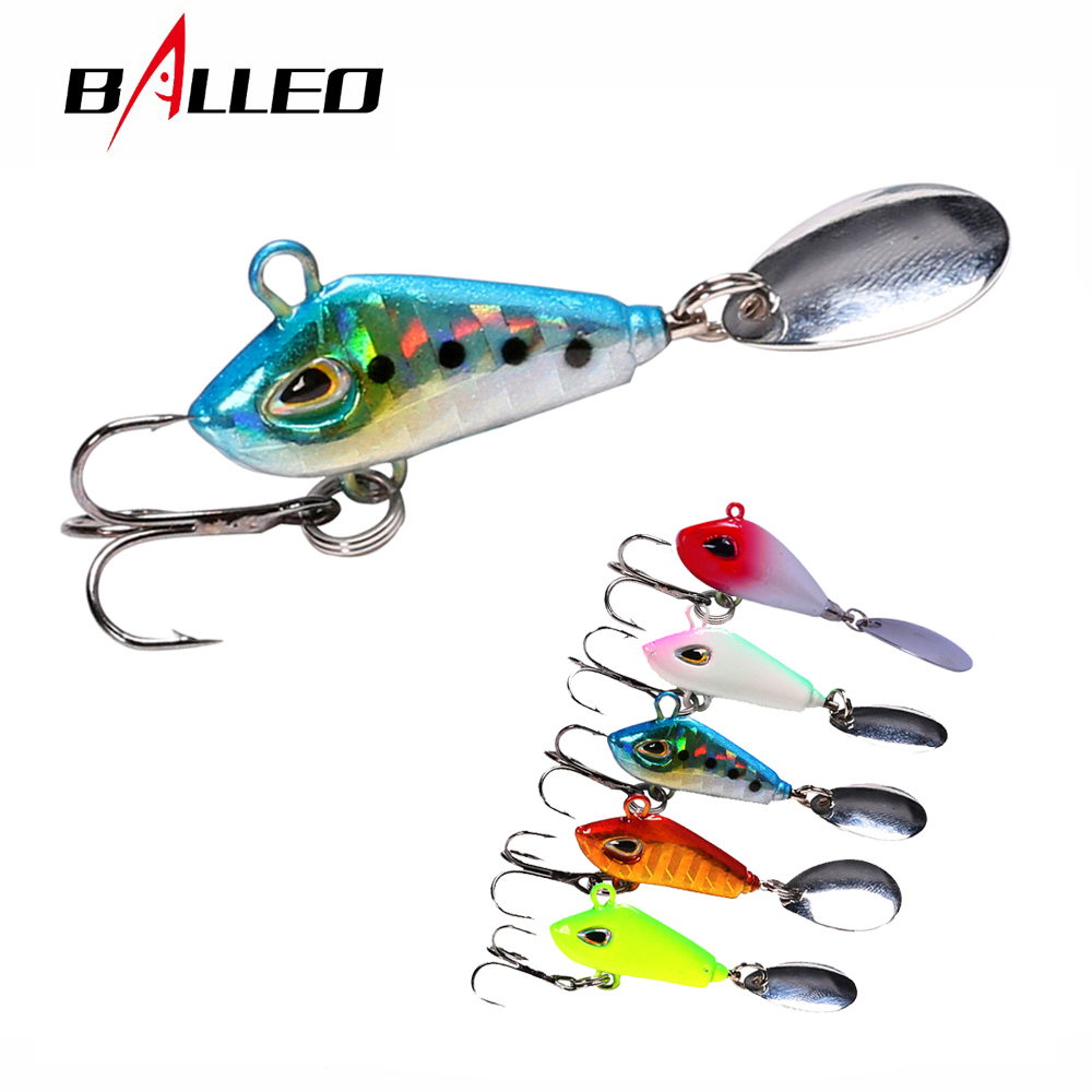 Balleo 6g10g17g25g Minni VIB Metal Lure with spoon Long Casting Fishing lure Sinking Vibration For Pike and perch