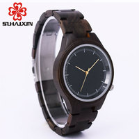 Women Watches Nature Wood Watch Luxury Brand Wooden Band And Dial Black Simple Dress Lady Watches