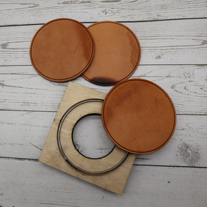 Image 2 - DIY leather craft cup pad mat round line embossed die cutting knife mould hand machine punch tool template