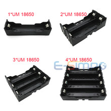 1pc 18650 Battery Holder for Lithium 1X18650, 2x18650, 3x18650, 4x18650 Cell,Li-ion 18650 Battery Holder With Pins(China)