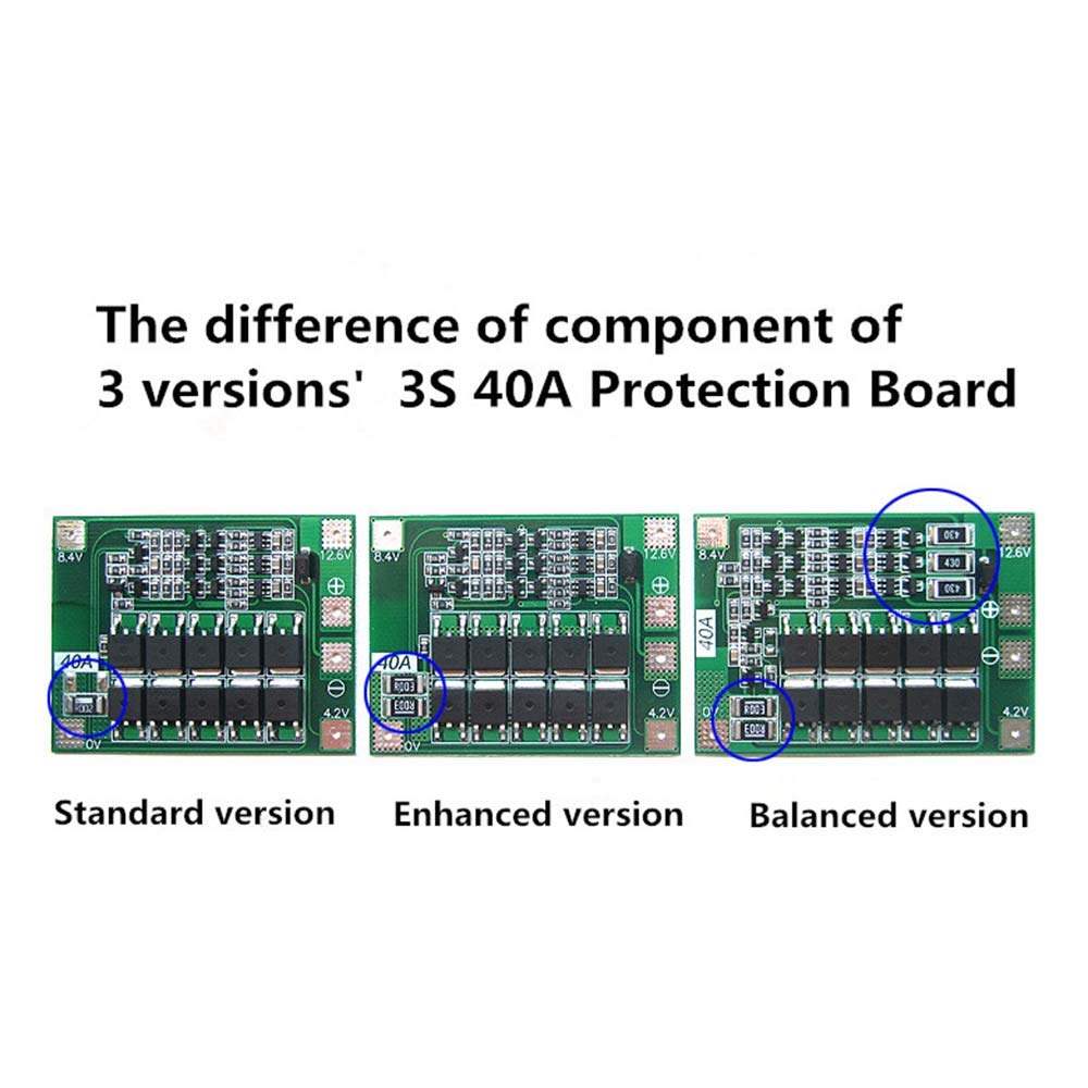 3S 40A BMS 11.1V 12.6V 18650 Lithium Battery Protection Board With Enhance/balanced Version For Drill 40A Current Diy Kit Aokin