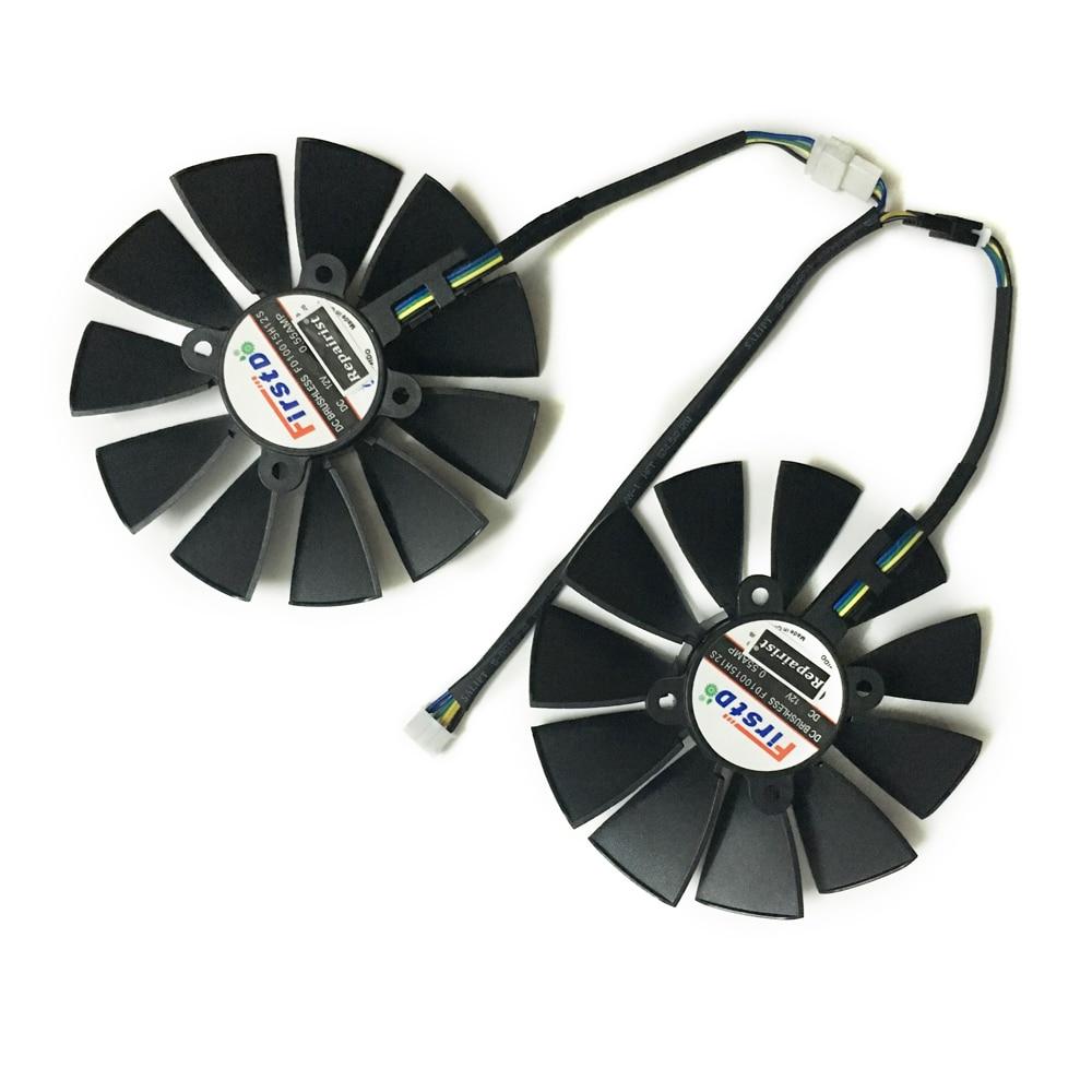 Компьютер VGA GPU кулер ROG strix GTX 1050Ti 1050 видеокарта вентилятор для ASUS ROG STRIX-GTX 1050Ti-O4G-GAMING видео карты охлаждения