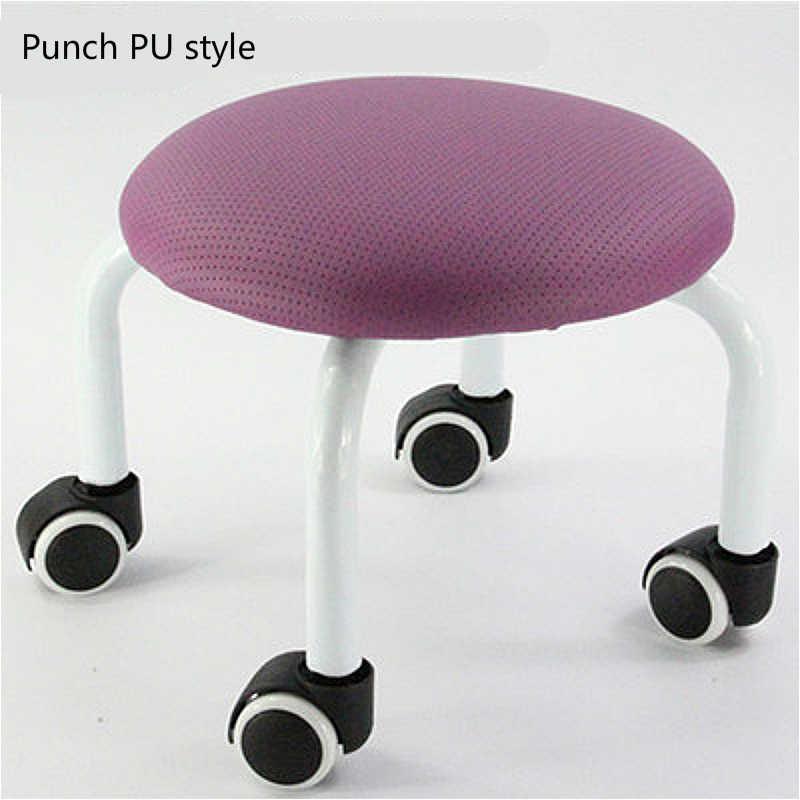 Бытовые детское сиденье скользящими учиться ходить стул Маникюр Педикюр низкий табурет ткани моющееся сиденье многофункциональное кресло