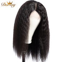 Lace Closure Wig Kinky Straight Wig Lace Front Human Hair Wigs Human Hair Wigs Closure For Malaysian Hair Dorisy Non Remy