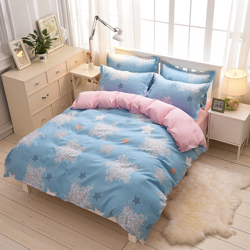 AB Side Polyester Bedding Cover Twin Full Queen Size Duvet Cover For Student Adults 1 Piece Duvet Cover Only XF348-14