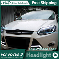 AKD Car Styling For Ford Focus Headlights 2012 2014 TLZ Focus 3 LED Headlight DRL Bi