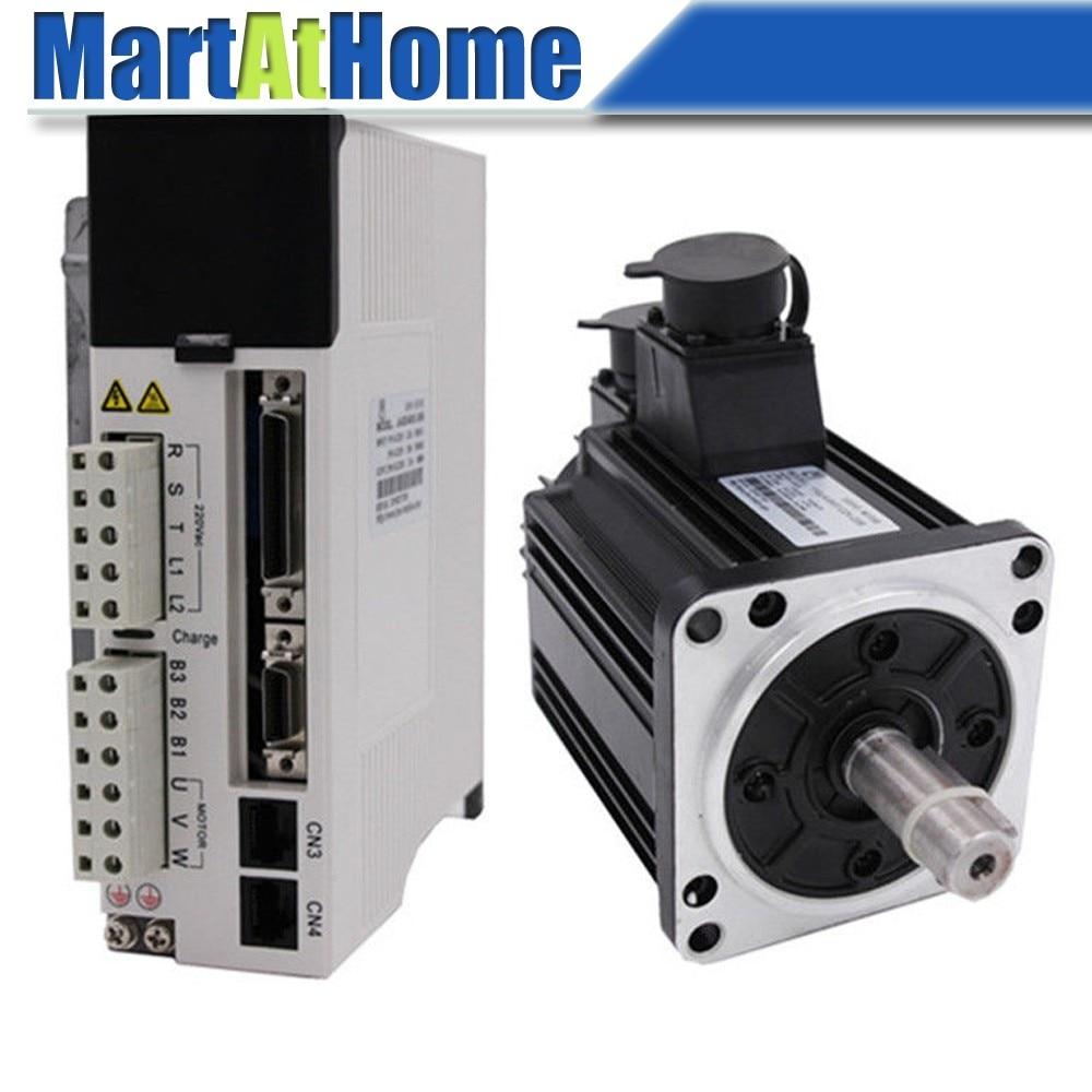 цена CNC Kit 1.5 KW 7.7Nm 2000rpm 220V AC Servo Driver JASD15002-20B & AC Servo Motor 130JASM5152HK-20B w/ Encoder #SM741 @SD