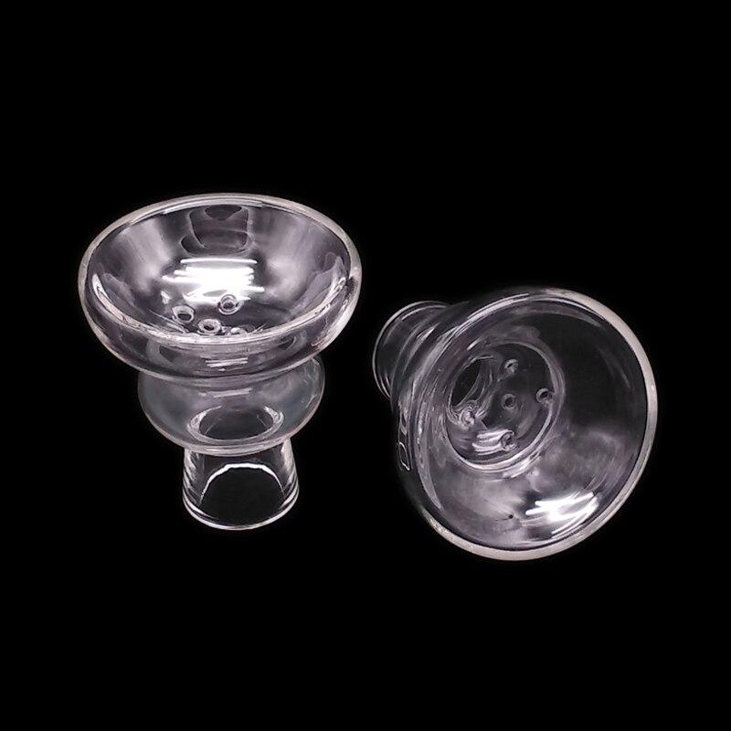 Tazón de Shisha para mujer, de vidrio transparente blanco transparente, tubo de agua / cachimba / Sheesha / Chicha / Narguile Accesorios SH201