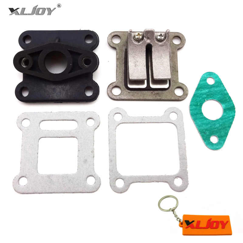XLJOY Reed Valve + Inlet Intake Manifold + Gaskets For 47cc 49cc Mini Moto Dirt Pocket Bike ATV Quad Go Kart Scooter Minimoto